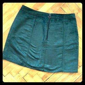 Velvety Mini Skirt